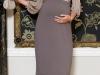 Vestidos de fiesta premamá: look en tonos grises