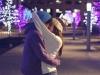 Navidad en pareja: beso