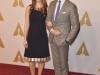 Oscar 2016 almuerzo de nominados: Eddie Redmayne y Hannah Bagshawe