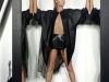 Paris Hilton posado revista Paper: de negro