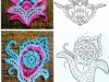 Patrones de ganchillo para principiantes: esquema flores de mar