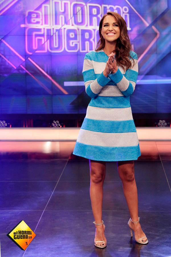 Paula Echevarría en El Hormiguero: con vestido de María Escoté