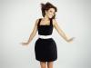 Paula Echevarría: Vestido negro