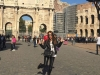 Paula Echevarría vacaciones en Roma: Colise exterior