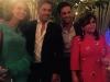 Paula Echevarría y David Bustamante desfile Jorge Vázquez: con el diseñador