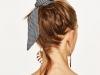Peinados con bandanas: moño alto