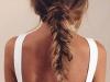 Peinados con trenzas: coleta baja