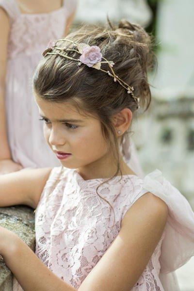 Peinados de comunion con diadema 2017