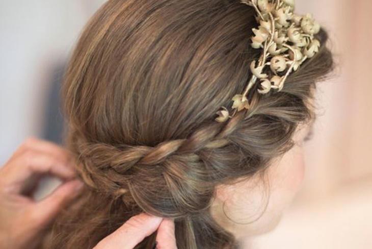 Peinados de comuni n con trenzas looks sencillos y - Peinados sencillos para comunion ...