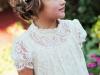 Peinados de comunión para niñas con pelo corto: lazo