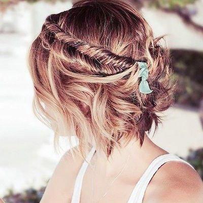 Peinados de novia cabello corto 2016