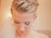 Peinados de novia con trenzas: delantera