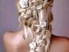 Peinados de novia con trenzas: zigzag