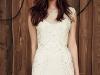 Peinados novia pelo suelto: Jenny Packham flequillo