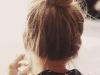 Peinados para días de lluvia: moño alto de bailarina
