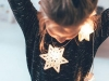 Peinados para niñas de Navidad: moño con lazo