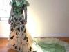 Peores vestidos de novia de la historia: flores verdes