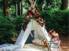 Photocall para bodas originales: cabaña