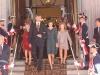 Princesa Leonor e Infanta Sofía en la XII Apertura de la Legislatura en el Congreso: con los Reyes bajando las escaleras