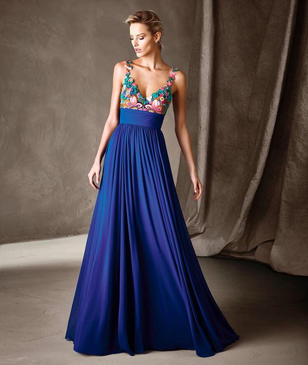 Pronovias vestido azul marino