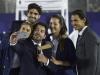 Rafa Nadal evento Tommy Hilfiger Madrid: el tenista y Malena Costa selfie