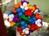 Ramos de chuches para novias con forma de flores