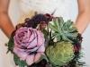 Ramos de novia con verduras y frutas: alcachofa verde