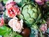 Ramos de novia con verduras y frutas: alcachofa