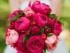 Ramos de novia con verduras y frutas: cerezas