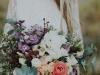 Ramos de novia de invierno: flores blancas y lilas