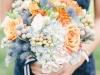 Ramos de novia de otoño vintage: azul y naranja