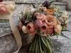 Ramos de novia de otoño vintage: con flores grandes