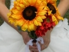 Ramos de novia de otoño vintage: girasoles