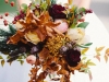 Ramos de novia de otoño vintage: hojas secas