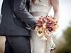 Ramos de novia de otoño vintage: morado y marillo