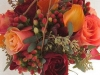 Ramos de novia de otoño vintage: rojo y naranja