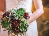 Ramos de novia de otoño vintage: rojo y verde