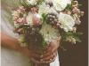Ramos de novia de otoño vintage: rosa y morado
