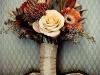 Ramos de novia de otoño vintage: tonos anaranjados
