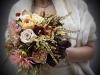 Ramos de novia de otoño vintage: tonos cálidos