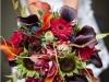 Ramos de novia de otoño vintage: tonos fuertes