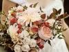 Ramos de novia de otoño vintage: tonos rosas