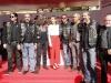 Reina Letizia estilo working girl en el Día de la Banderita 2016: mesa de cuestación con moteros de Harley Davidson