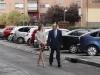Reina Letizia look otoñal de Hugo Boss: llegada al acto