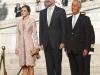 Reina Letizia looks viaje a Portugal 2016: Look de Felipe Varela himnos