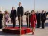 Reina Letizia y Rania de Jordania visita a Madrid: himnos nacionales