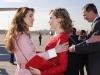 Reina Letizia y Rania de Jordania visita a Madrid: saludándose