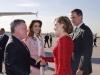 Reina Letizia y Rania de Jordania visita a Madrid: saludos