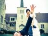 Reportajes de fotos para bodas divertidos y diferentes: arrastrando al novio