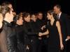 Reyes inauguración temporada Teatro Real 2015: saludando al coro